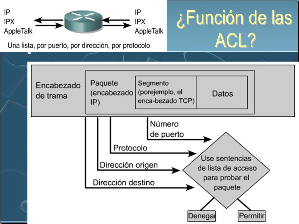 ¿Función de las ACL