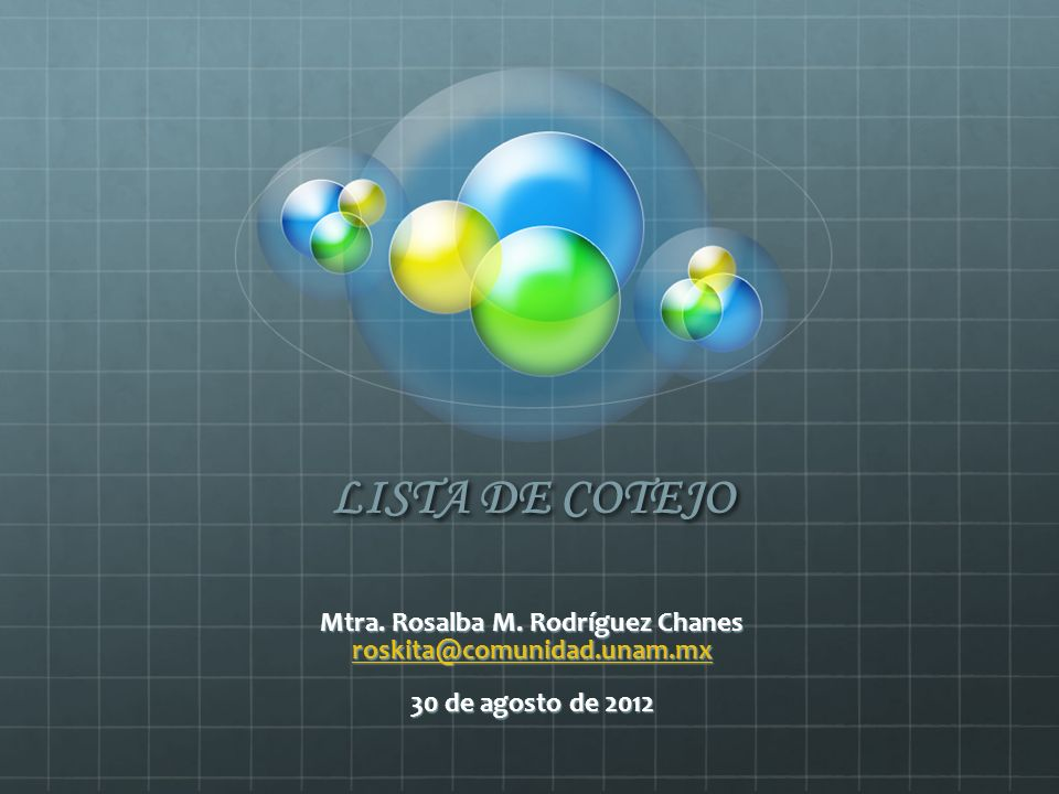 Mtra. Rosalba M. Rodríguez Chanes