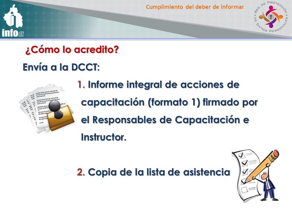 ¿Cómo lo acredito Envía a la DCCT: