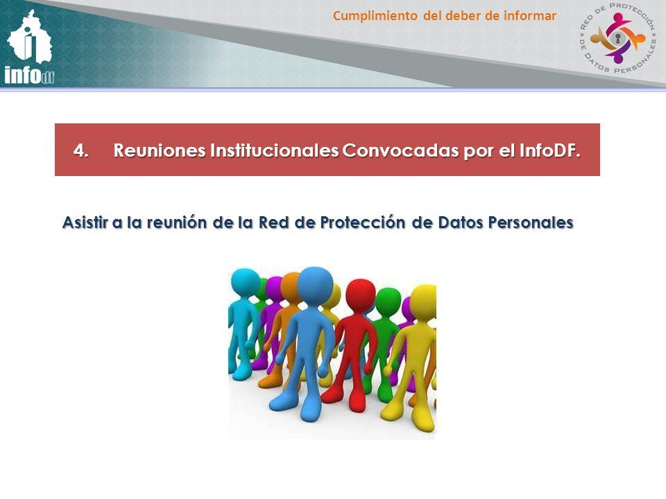 Reuniones Institucionales Convocadas por el InfoDF.