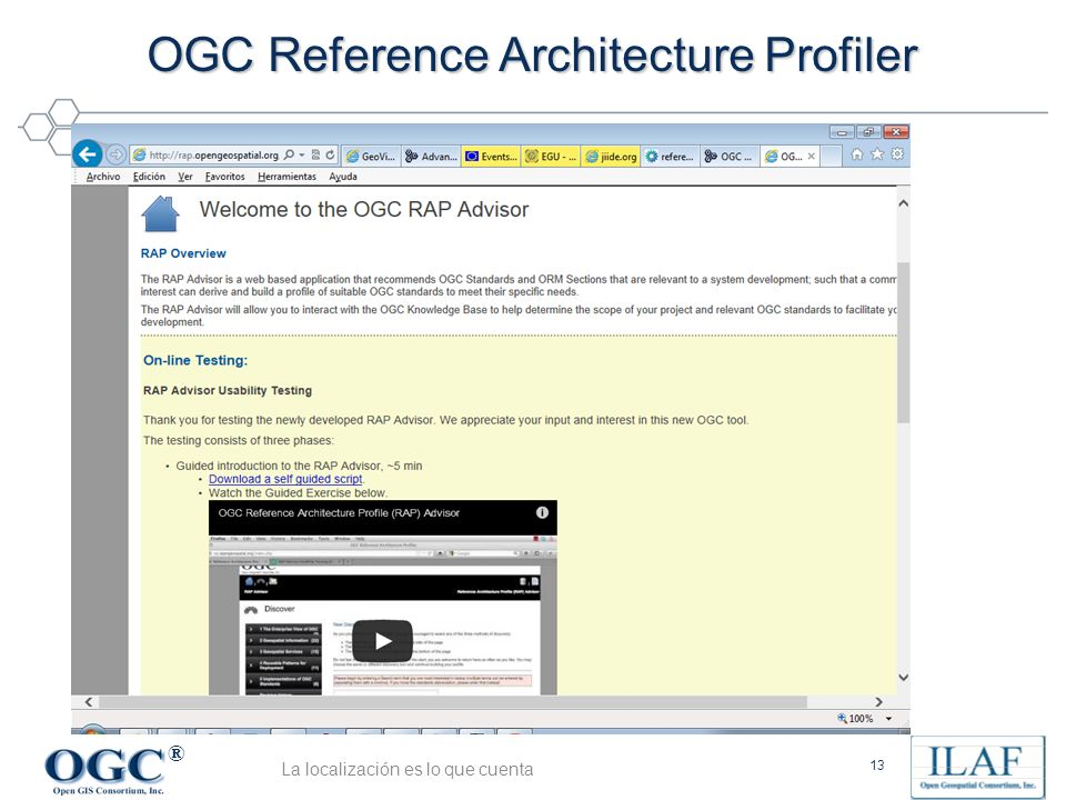 OGC Reference Architecture Profiler