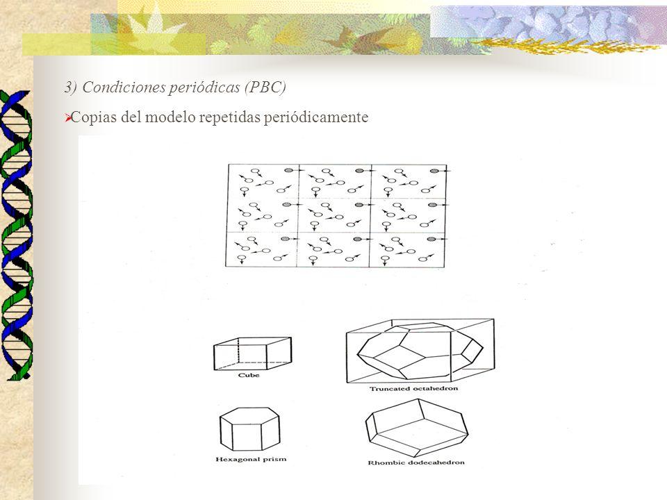 3) Condiciones periódicas (PBC)