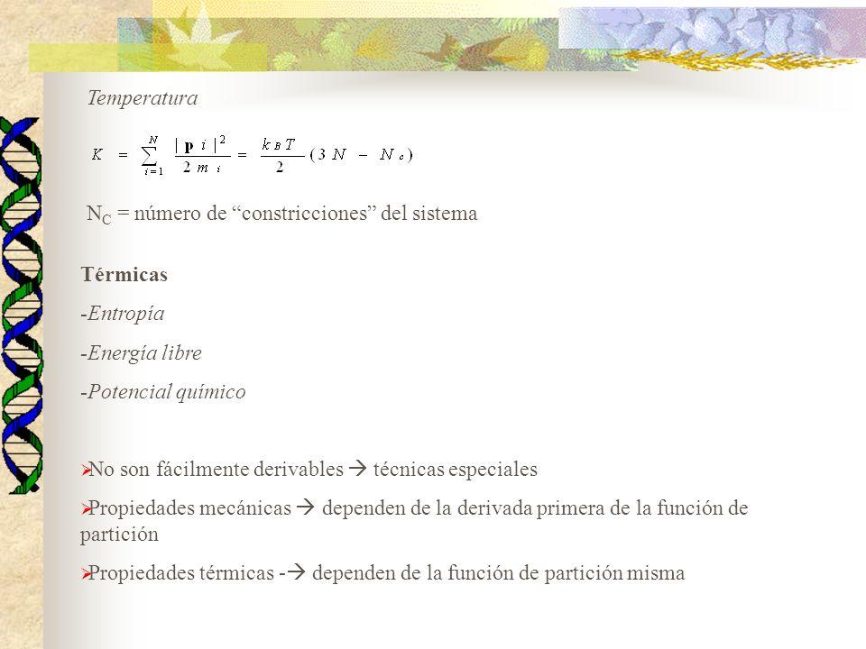 NC = número de constricciones del sistema
