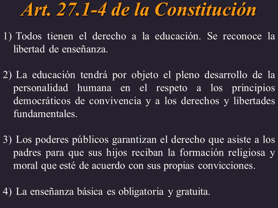 Art. 27.1-4 de la Constitución