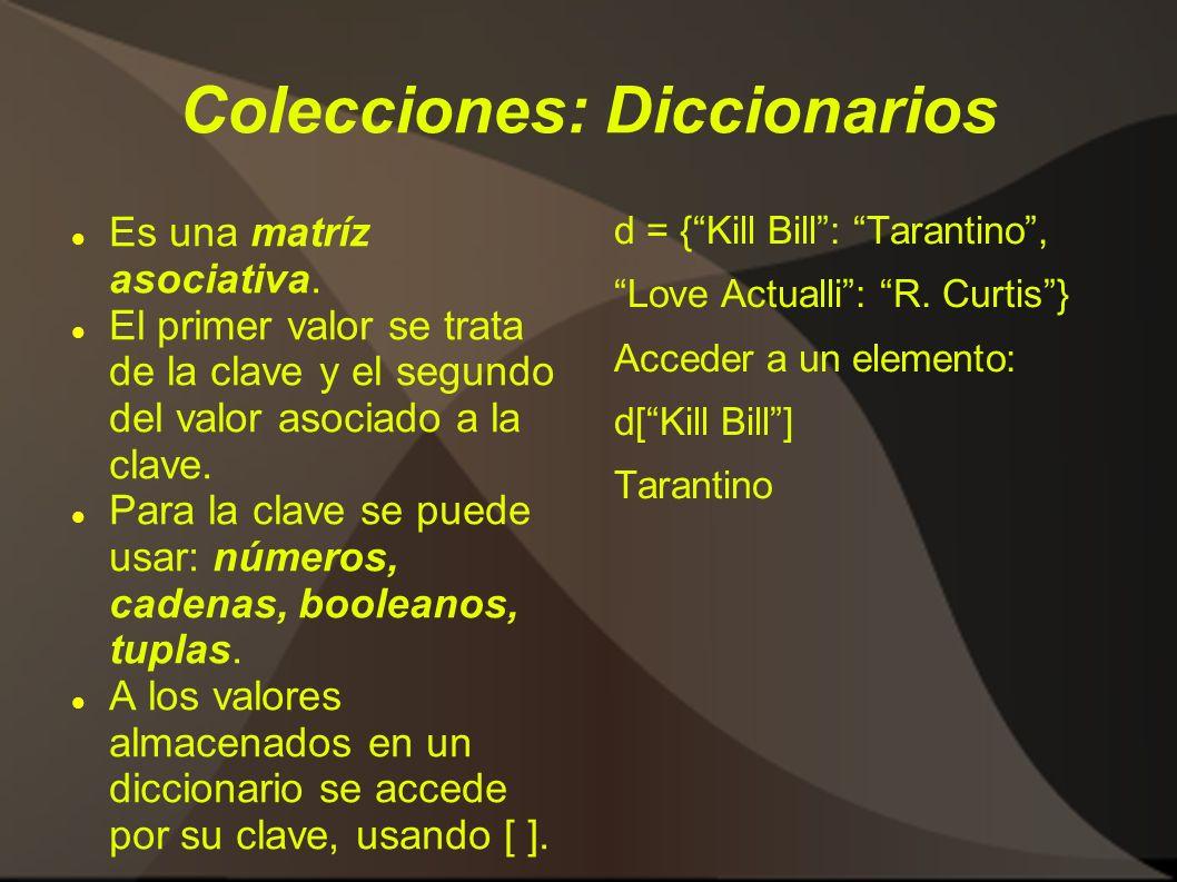 Colecciones: Diccionarios