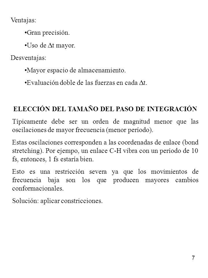 ELECCIÓN DEL TAMAÑO DEL PASO DE INTEGRACIÓN