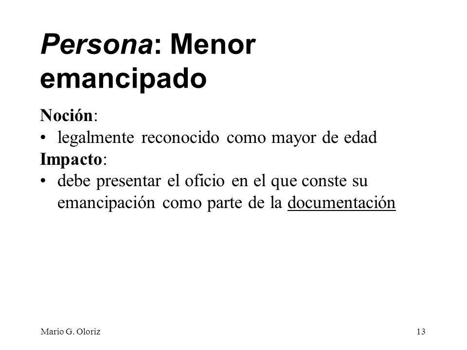 Persona: Menor emancipado