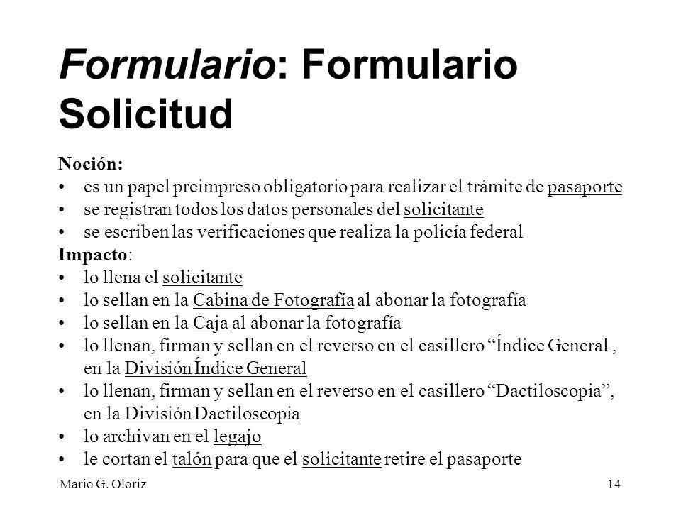 Formulario: Formulario Solicitud