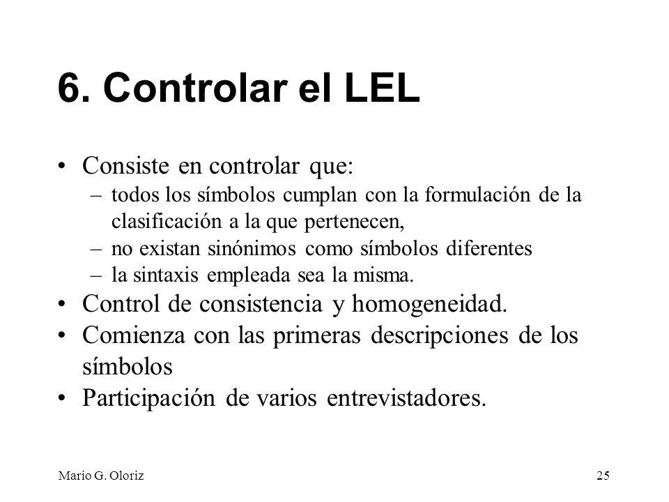 6. Controlar el LEL Consiste en controlar que: