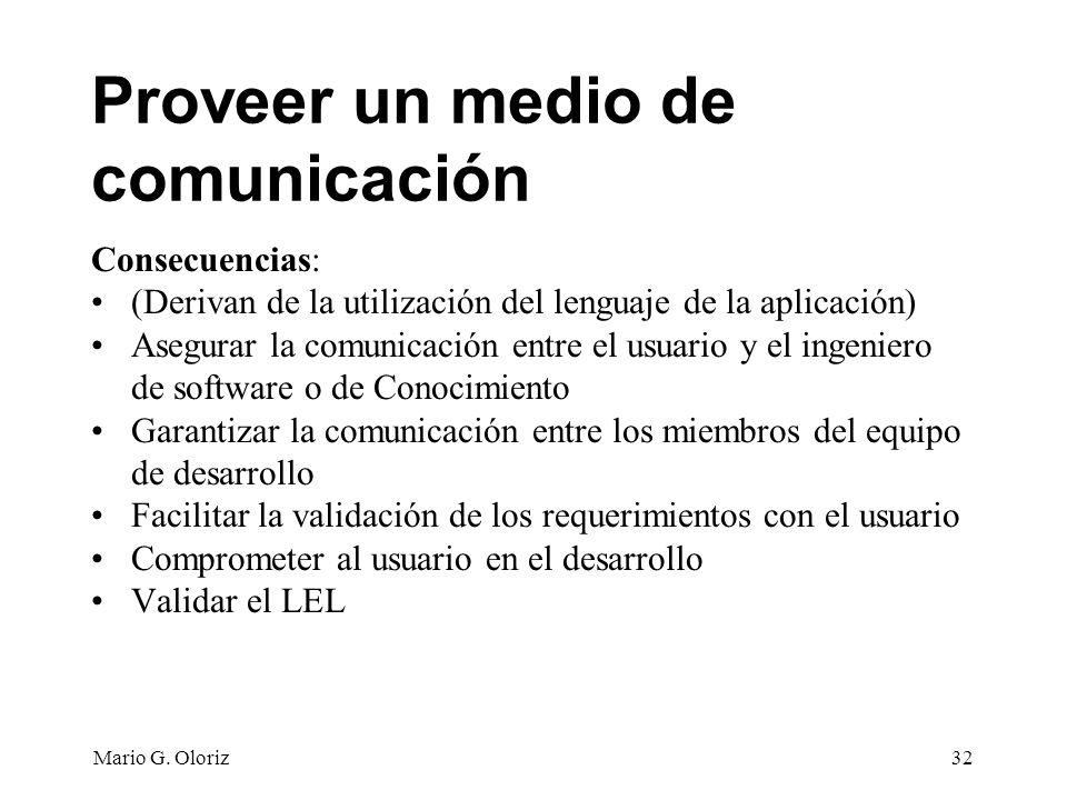 Proveer un medio de comunicación