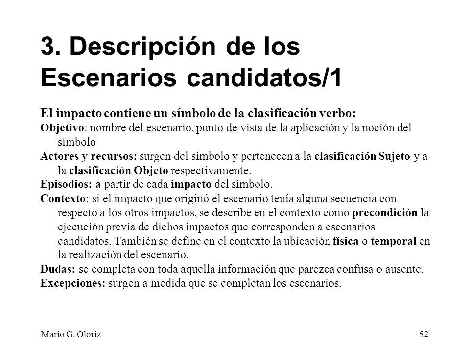 3. Descripción de los Escenarios candidatos/1