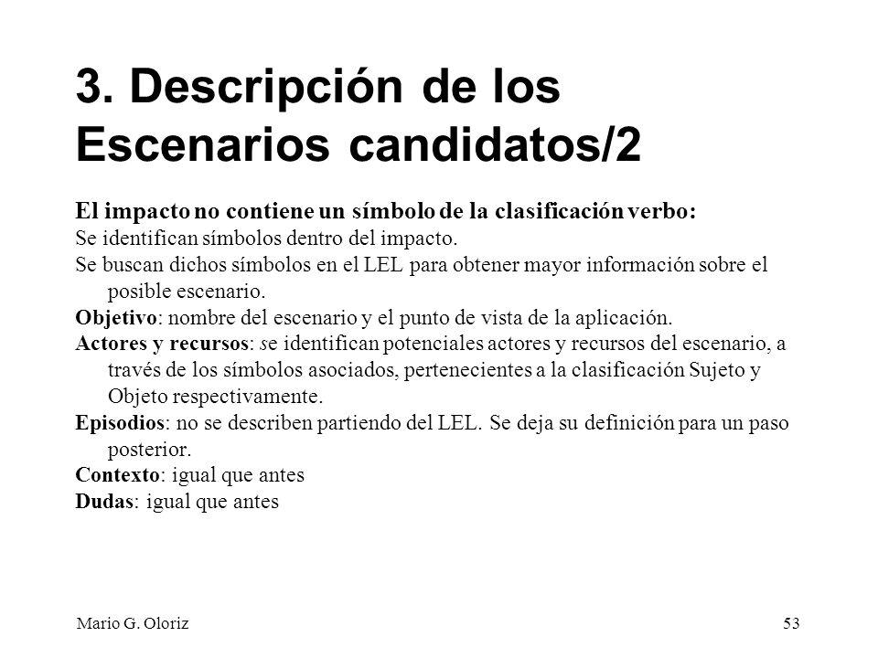 3. Descripción de los Escenarios candidatos/2