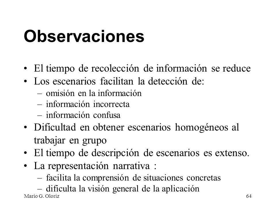 Observaciones El tiempo de recolección de información se reduce