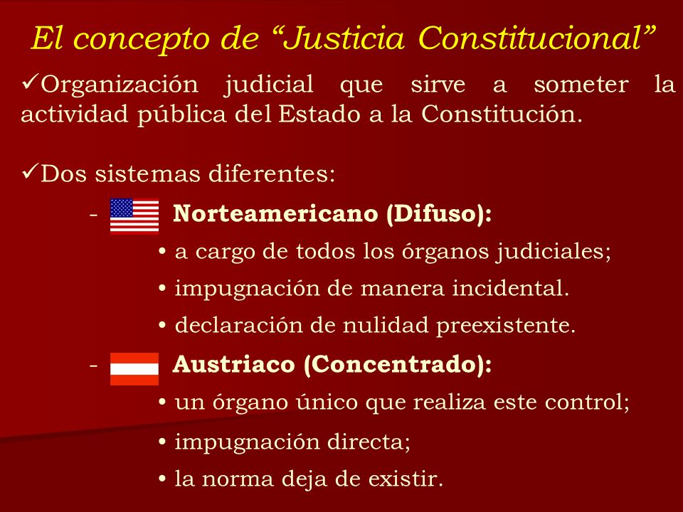 El concepto de Justicia Constitucional
