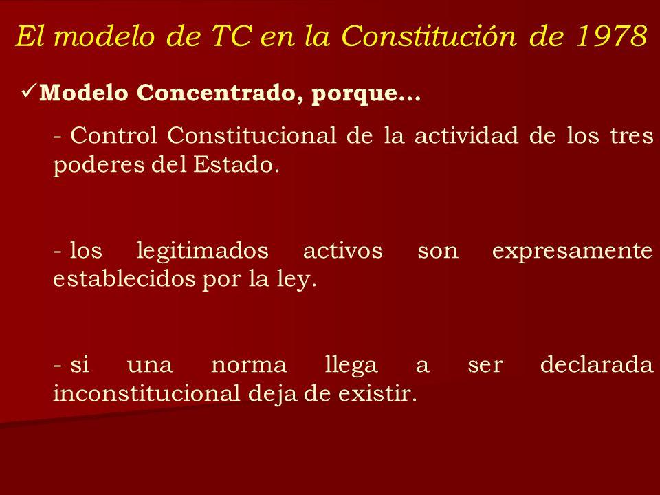 El modelo de TC en la Constitución de 1978