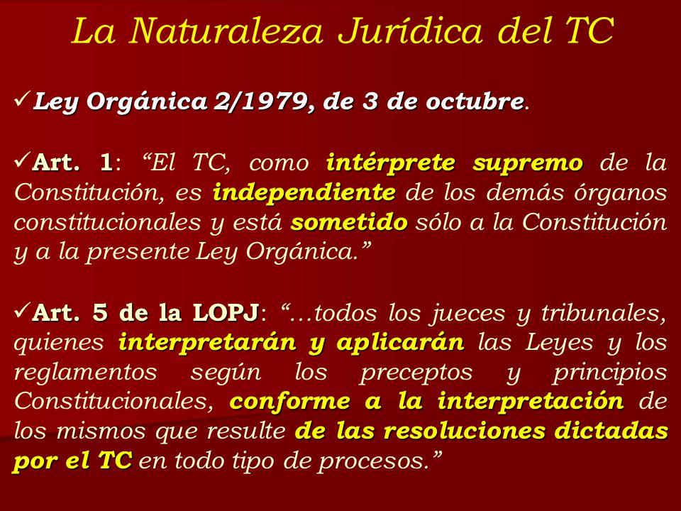 La Naturaleza Jurídica del TC