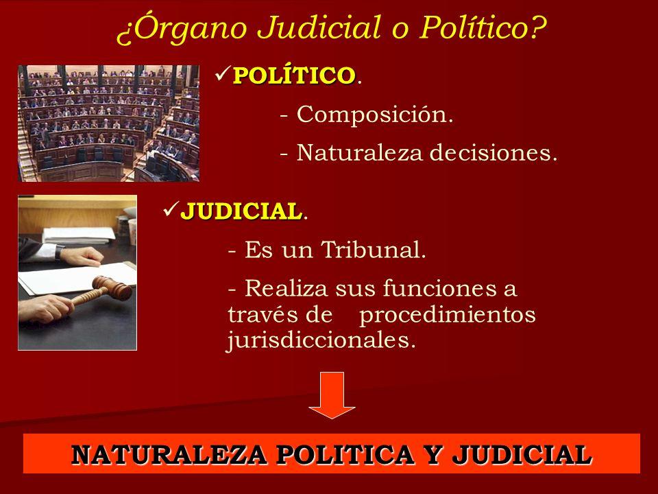 NATURALEZA POLITICA Y JUDICIAL