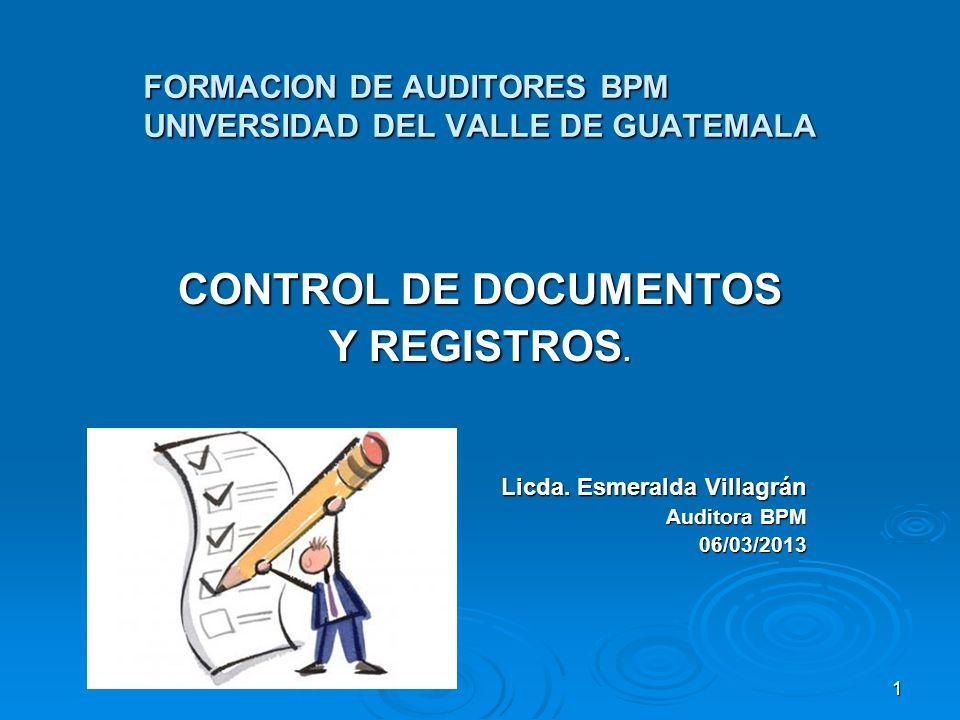 FORMACION DE AUDITORES BPM UNIVERSIDAD DEL VALLE DE GUATEMALA