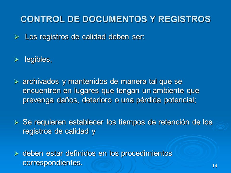 CONTROL DE DOCUMENTOS Y REGISTROS