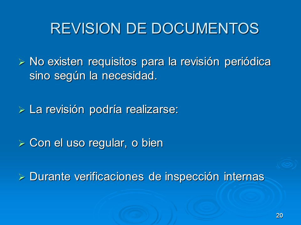 REVISION DE DOCUMENTOS