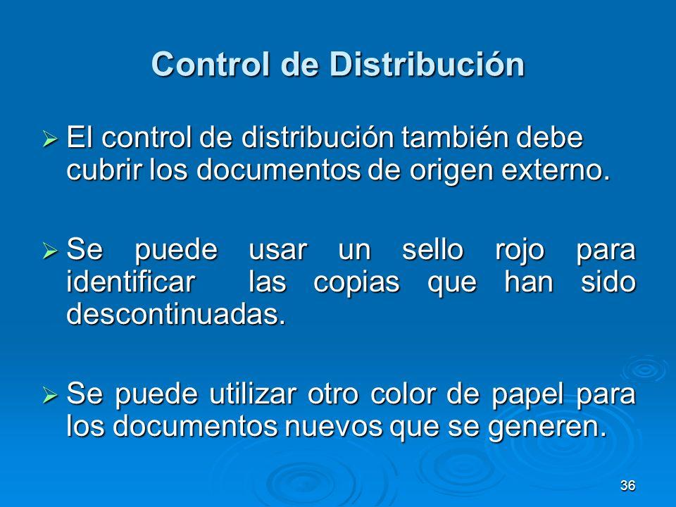 Control de Distribución