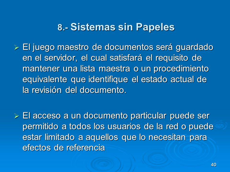 8.- Sistemas sin Papeles