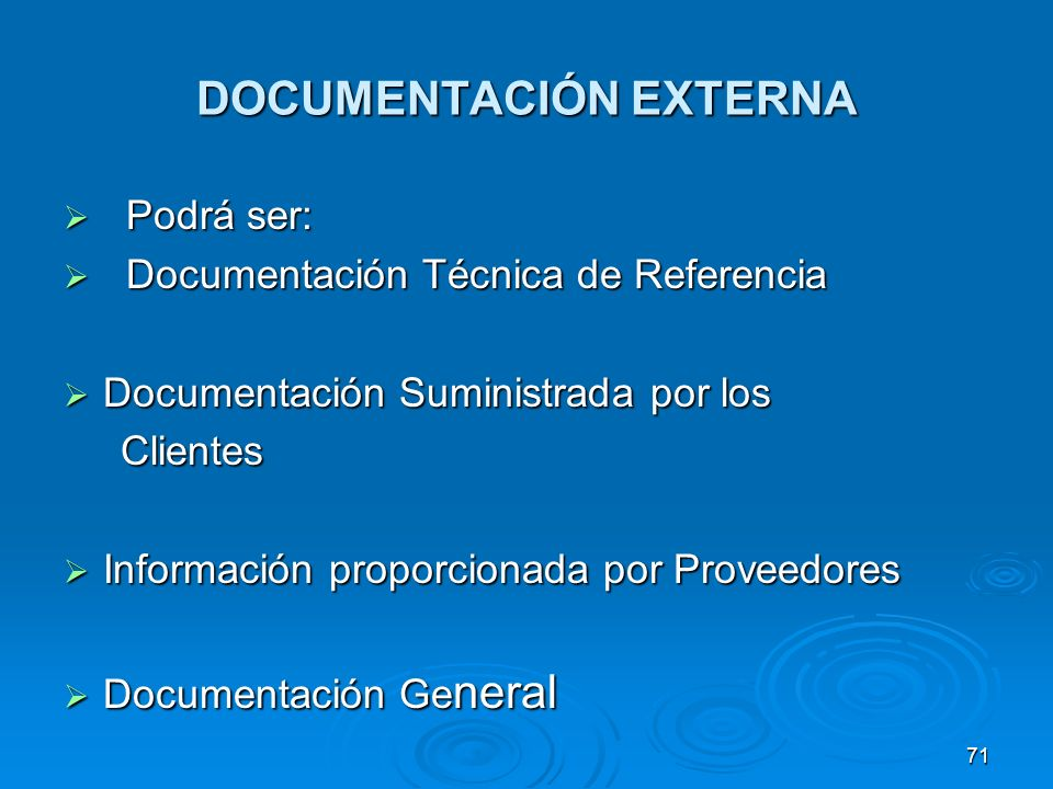 DOCUMENTACIÓN EXTERNA