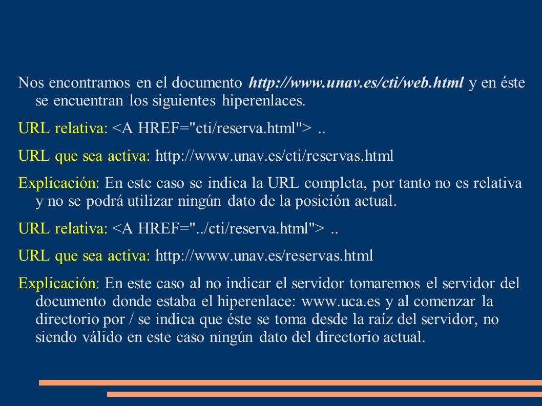 Nos encontramos en el documento http://www. unav. es/cti/web
