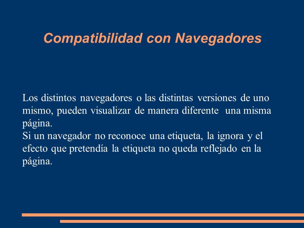 Compatibilidad con Navegadores