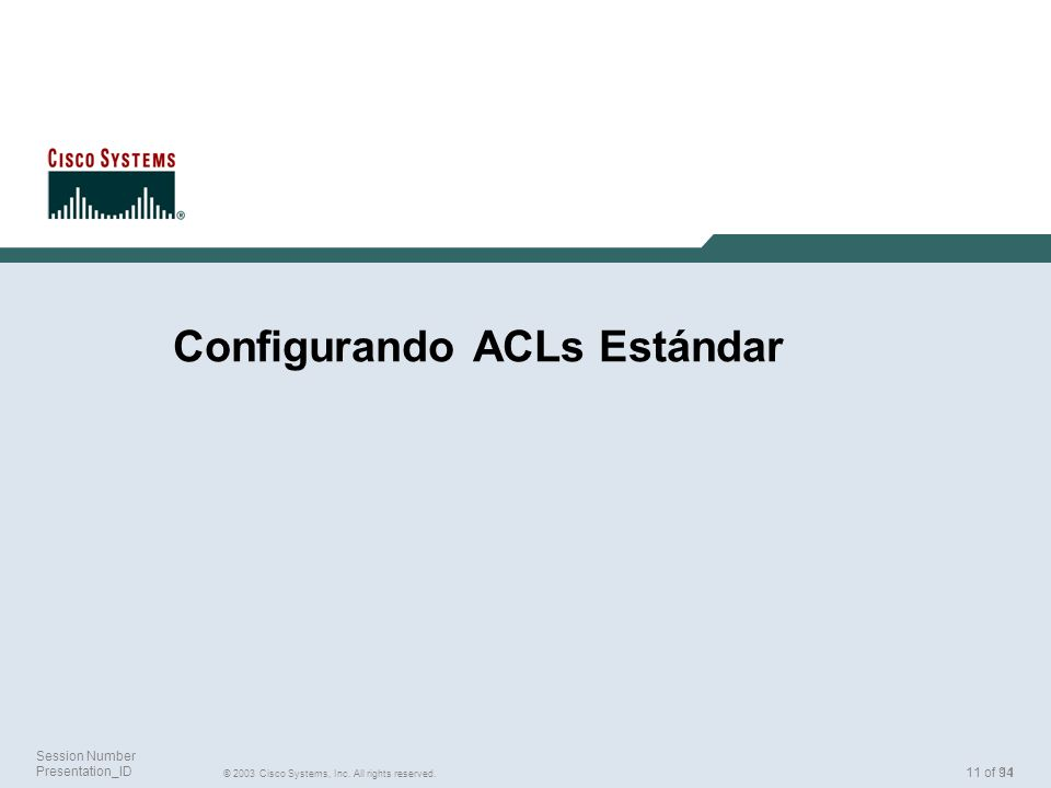 Configurando ACLs Estándar