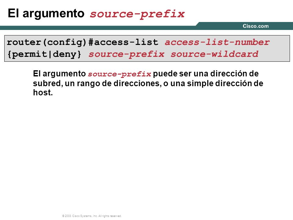 El argumento source-prefix