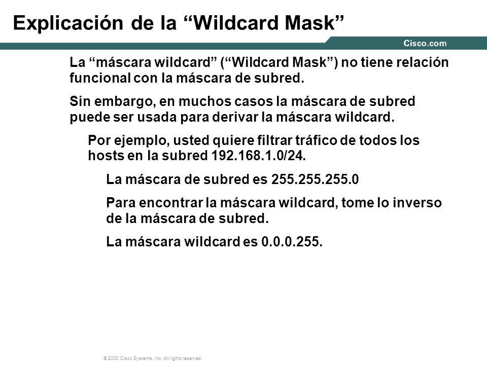 Explicación de la Wildcard Mask
