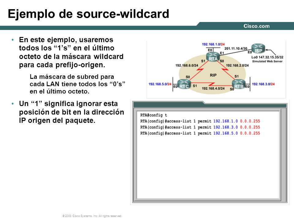Ejemplo de source-wildcard