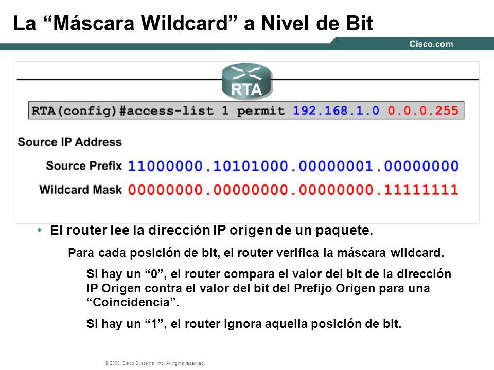 La Máscara Wildcard a Nivel de Bit