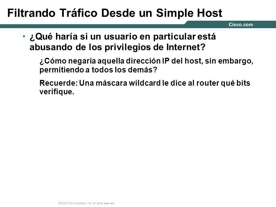 Filtrando Tráfico Desde un Simple Host