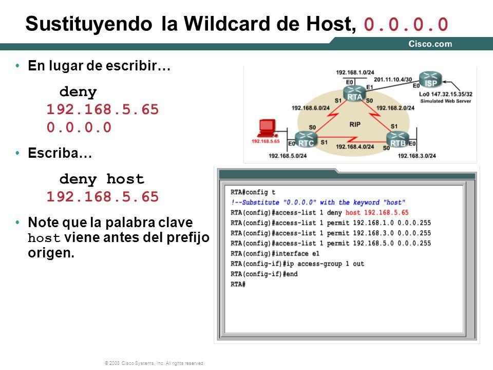 Sustituyendo la Wildcard de Host, 0.0.0.0
