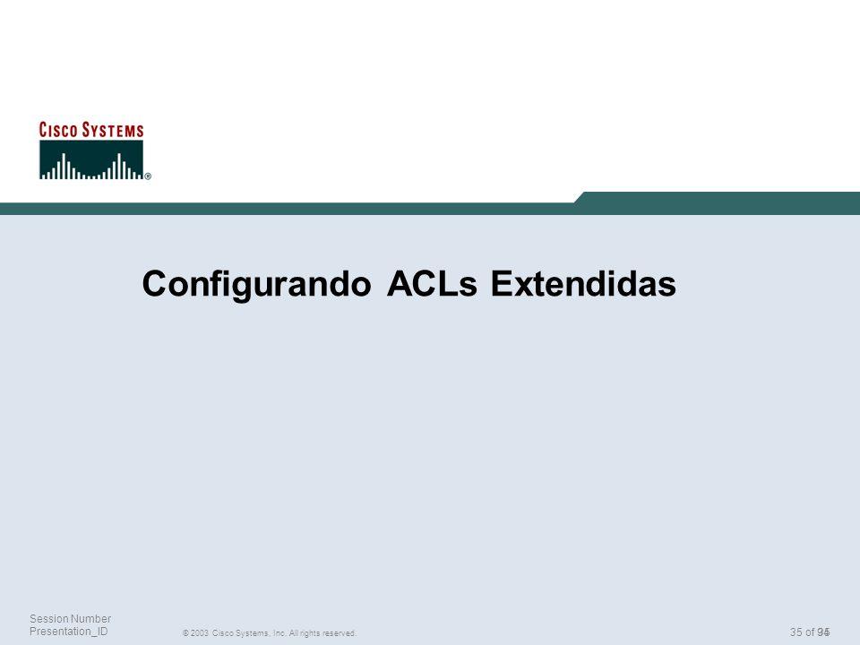 Configurando ACLs Extendidas