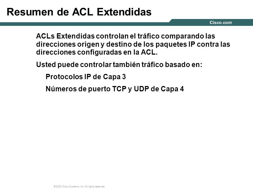 Resumen de ACL Extendidas