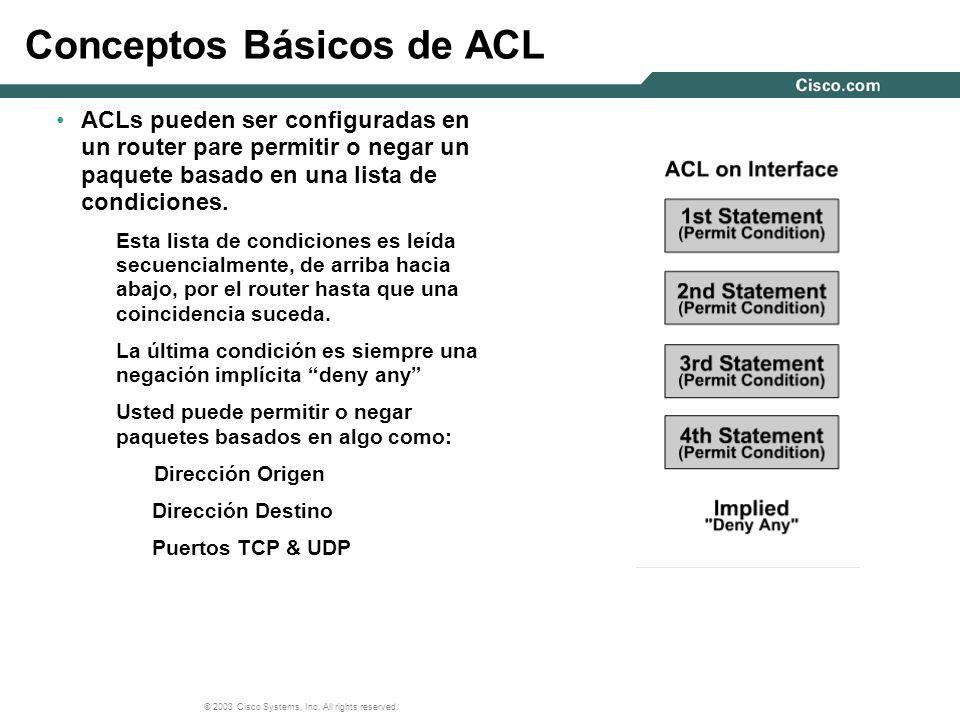 Conceptos Básicos de ACL