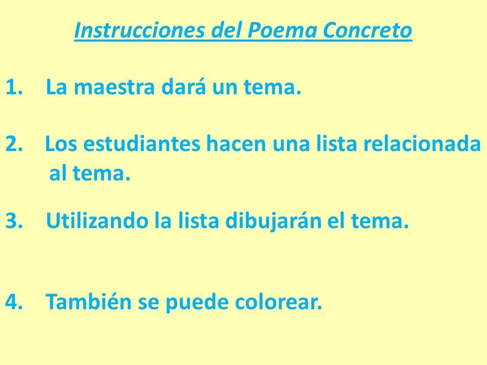 Instrucciones del Poema Concreto