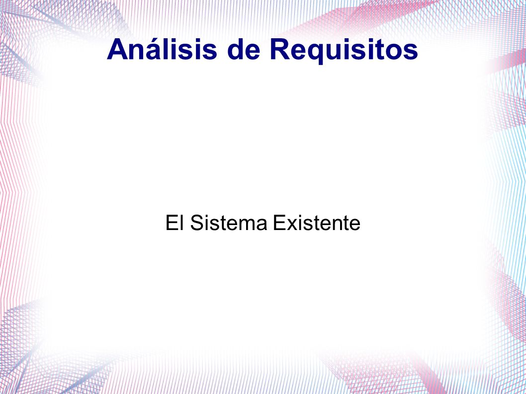 Análisis de Requisitos