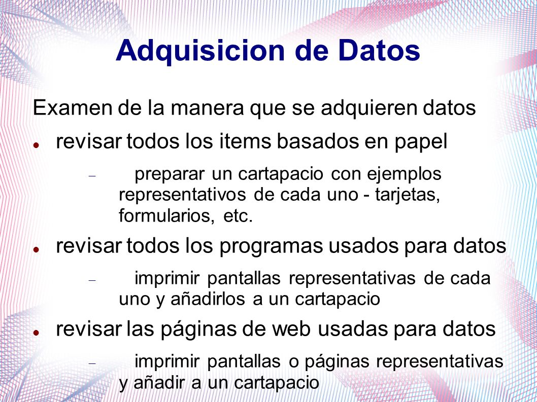 Adquisicion de Datos Examen de la manera que se adquieren datos