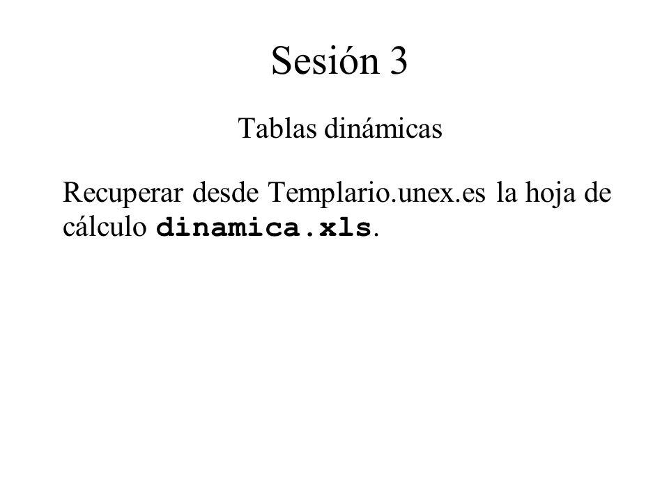 Sesión 3 Tablas dinámicas