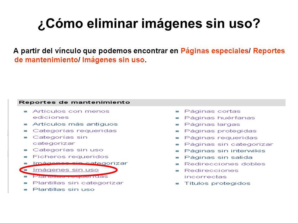 ¿Cómo eliminar imágenes sin uso