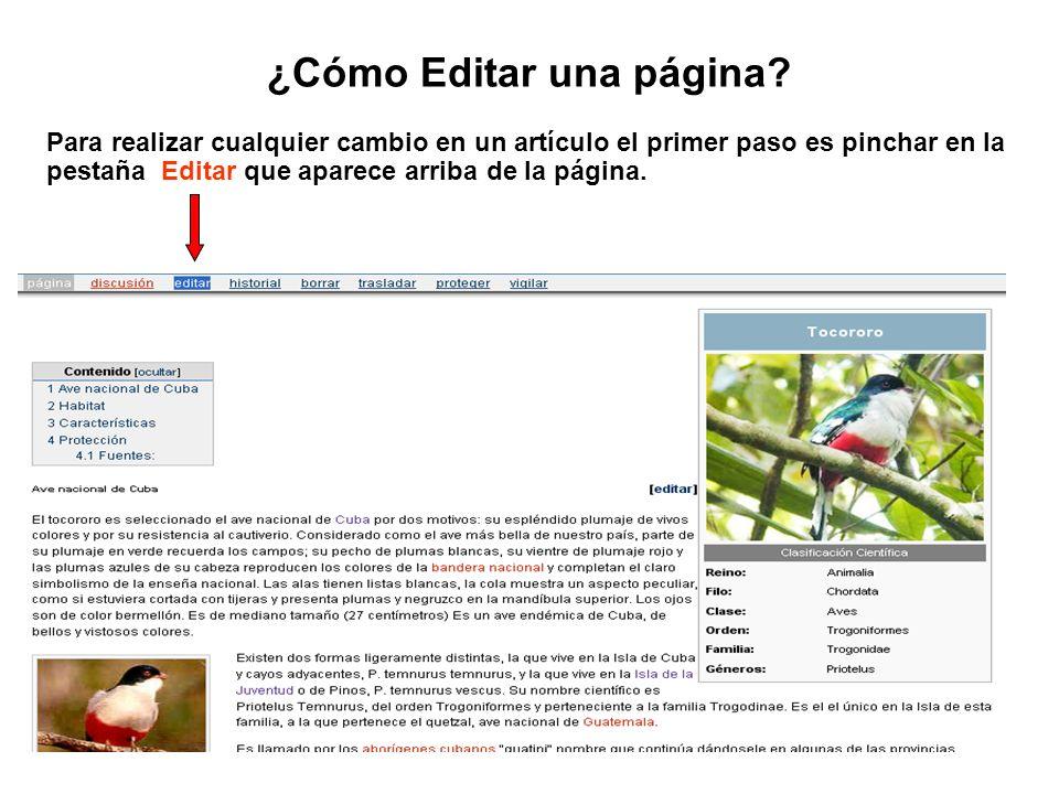 ¿Cómo Editar una página