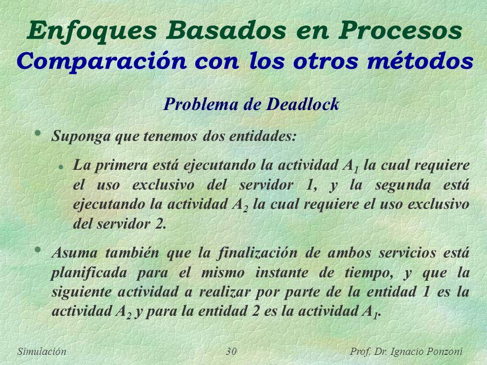 Enfoques Basados en Procesos Comparación con los otros métodos