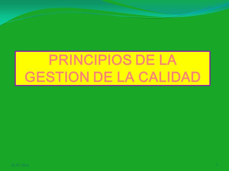 PRINCIPIOS DE LA GESTION DE LA CALIDAD