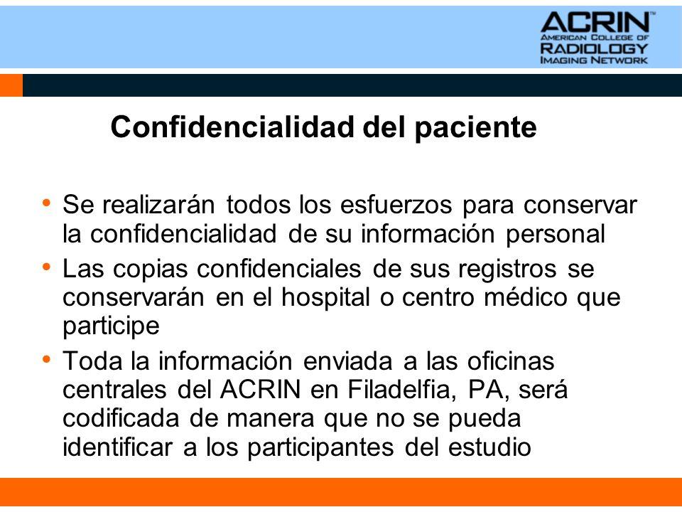 Confidencialidad del paciente