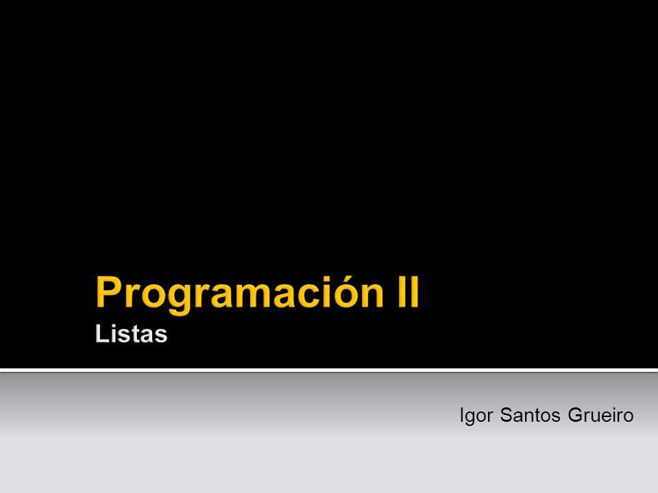 Programación II Listas