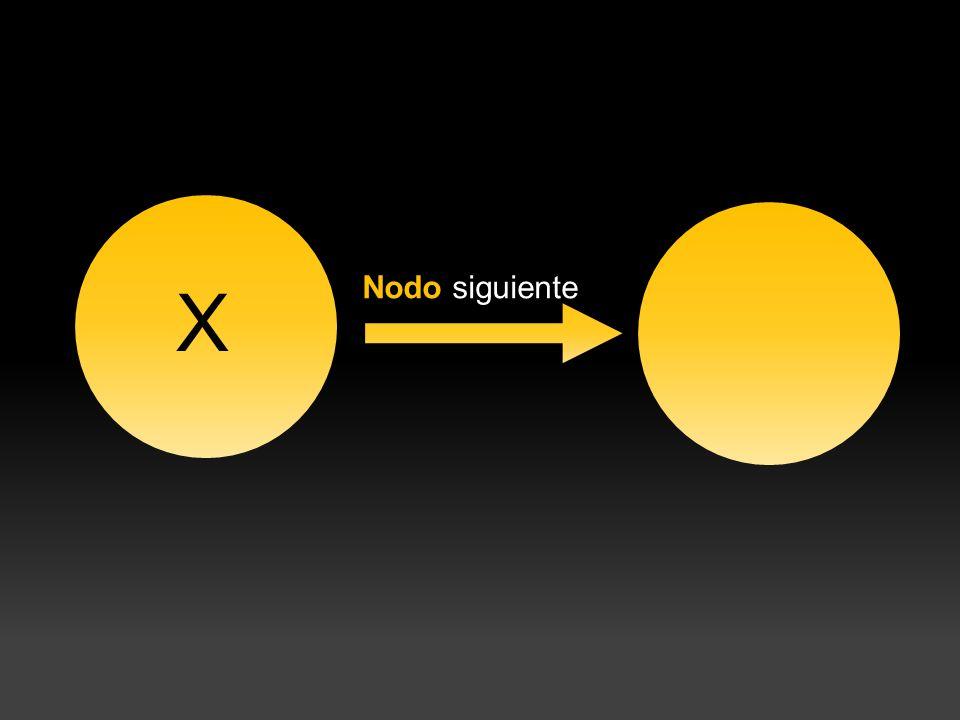 X Nodo siguiente